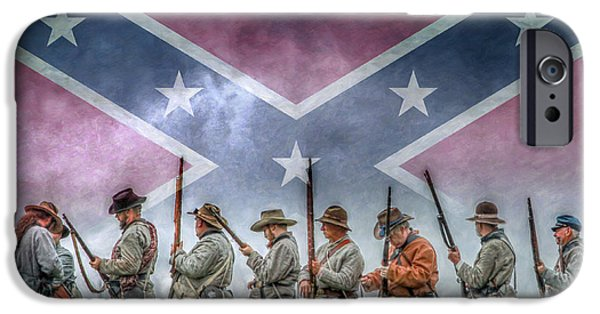 Battle Of Gettysburg Digital iPhone Cases - Southern Heritage Southern Pride iPhone Case by Randy Steele