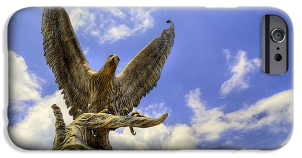 Hattiesburg iPhone Cases - Southern Miss Golden Eagles iPhone Case by JC Findley