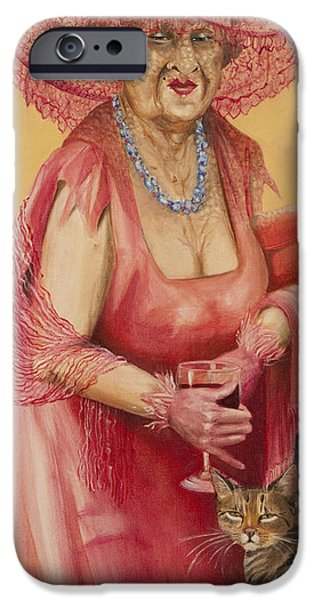 Ball Gown iPhone Cases - Southern Rose iPhone Case by Shelly Wilkerson