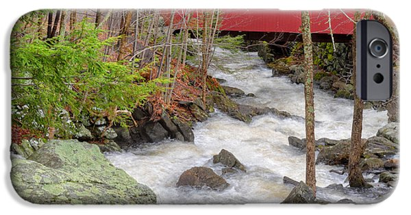 Southern New England iPhone Cases - Southford Falls State Park iPhone Case by Bill Wakeley