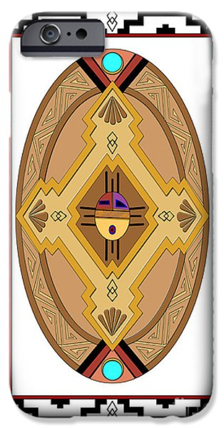 Hightower iPhone Cases - Southwest Collection - Oval Design iPhone Case by Tim Hightower