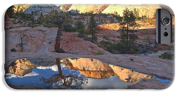 Zion Park iPhone Cases - Southwest Desert Reflections iPhone Case by Adam Jewell