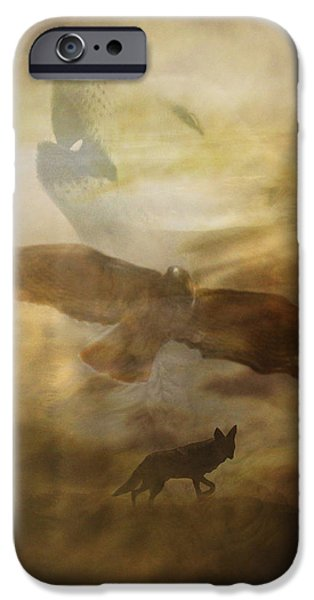 Coyote Art iPhone Cases - Southwestern Dream iPhone Case by Stephanie Laird