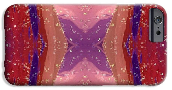 Abstract Design Tapestries - Textiles iPhone Cases - Space Dreamings iPhone Case by Suzi Freeman