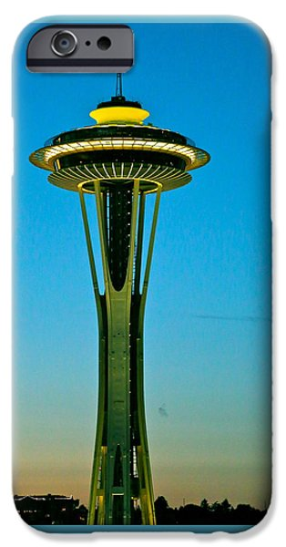 City Scape iPhone Cases - Space Needle #3 iPhone Case by Angie Wingerd