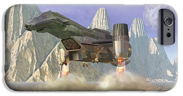 3-d iPhone Cases - Spaceship iPhone Case by Carol and Mike Werner