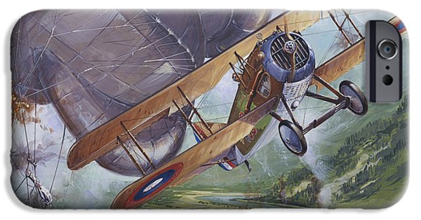 Ww1 iPhone Cases - Spad Sxiii iPhone Case by Tony Belobrajdic