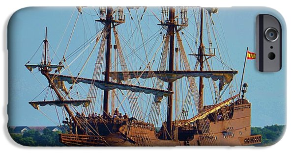 Pirate Ships iPhone Cases - Spanish Galleon iPhone Case by Bob Sample
