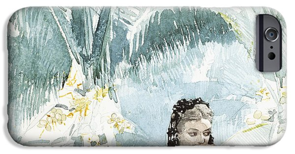 Winslow Homer iPhone Cases - Spanish Girl With A Fan iPhone Case by Winslow Homer