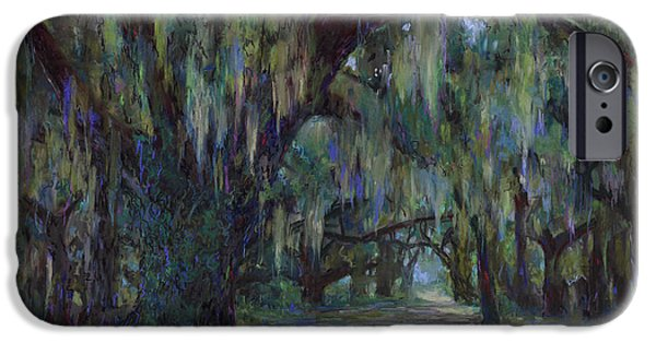 Pathway Pastels iPhone Cases - Spanish Moss iPhone Case by Billie Colson