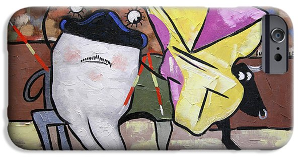 Posters On Mixed Media iPhone Cases - Spanish Tooth iPhone Case by Anthony Falbo
