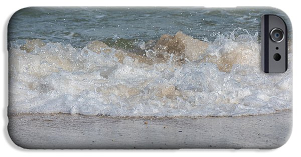 Sparking iPhone Cases - Sparking Ocean Wave Jersey Shore iPhone Case by Terry DeLuco
