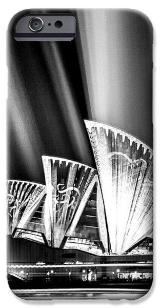 White House iPhone Cases - Sparkling Blades BW iPhone Case by Az Jackson
