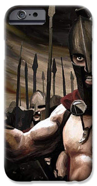 Spartans 300 iPhone Case by James Shepherd