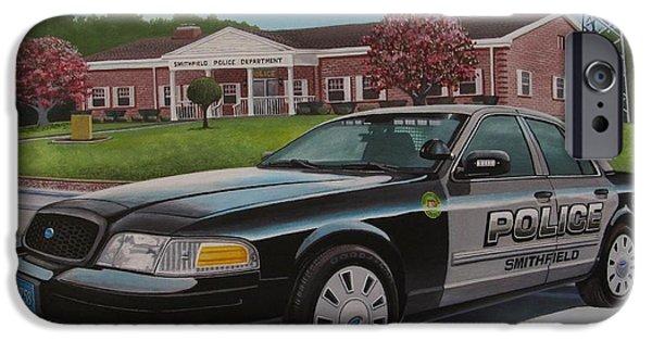 Law Enforcement Paintings iPhone Cases - Spd2015 iPhone Case by Robert VanNieuwenhuyze