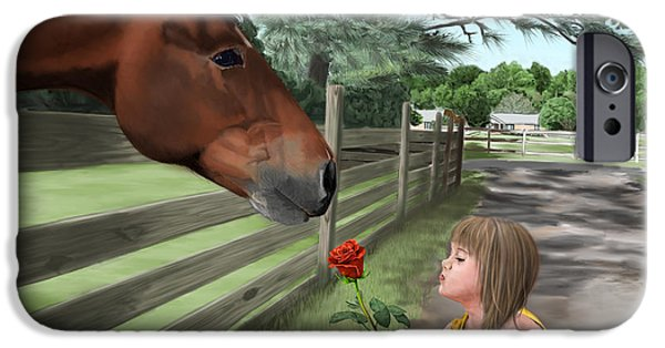 Horse iPhone Cases - Special Connections iPhone Case by Myke  Irving
