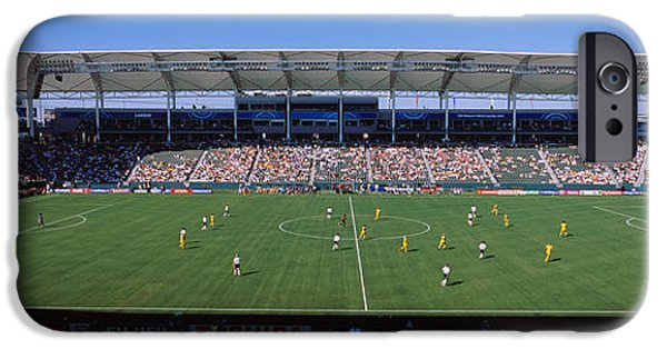 Cooperation iPhone Cases - Spectators Watching A Soccer Match iPhone Case by Panoramic Images