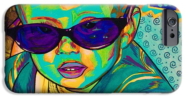 Young Paintings iPhone Cases - Spectra AJS iPhone Case by Asra Rae