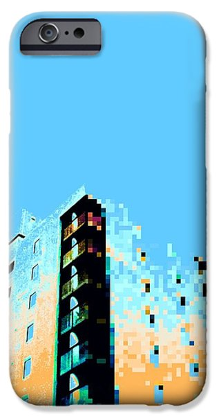 Abstract Digital Photographs iPhone Cases - Spectral Decay iPhone Case by Evan Lamb