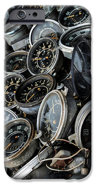 Automotive Pyrography iPhone Cases - Speedometers iPhone Case by Amanda Robbins