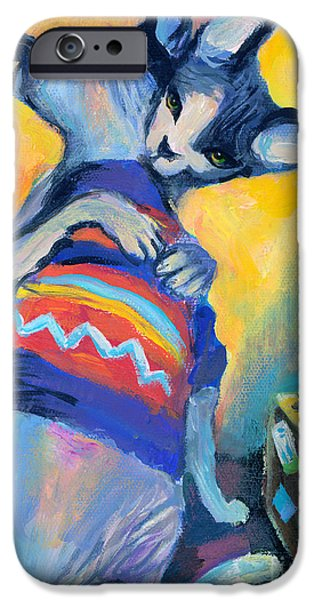 Cat Drawings iPhone Cases - Sphynx Cats Friends iPhone Case by Svetlana Novikova