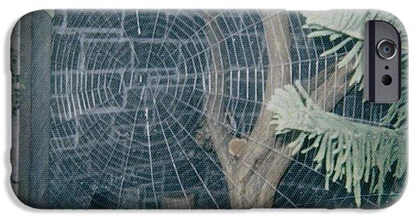 Raining Sculptures iPhone Cases - Spider Web Sculpture iPhone Case by Vincent von Frese