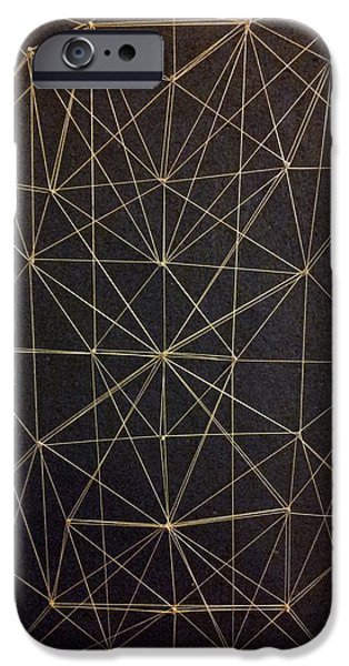 Abstract Forms Reliefs iPhone Cases - Spider web iPhone Case by William Douglas