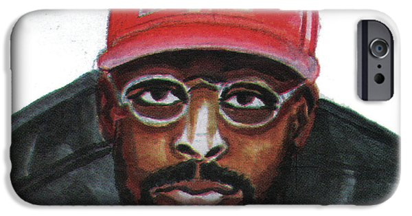 African-american Drawings iPhone Cases - Spike Lee iPhone Case by Emmanuel Baliyanga