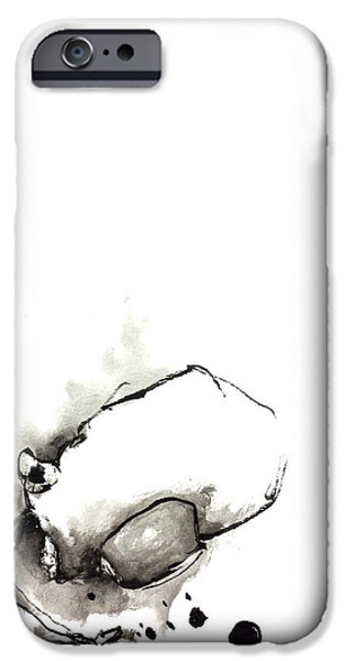 Abnormal Drawings iPhone Cases - Spilling iPhone Case by Nick Watts