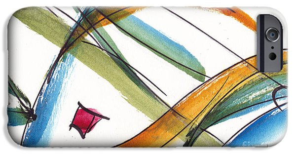 Alizarin Crimson iPhone Cases - Spindle Back Abstract #2 iPhone Case by Pat Katz