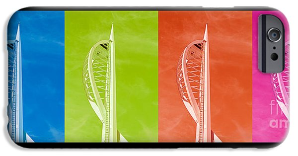Shape iPhone Cases - Spinnaker Tower iPhone Case by Terri  Waters