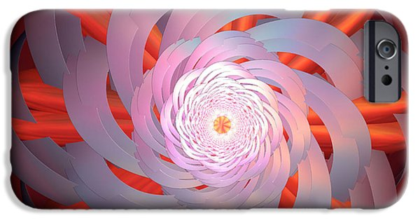 Incendia iPhone Cases - Spinning Pinwheel iPhone Case by Deborah Benoit