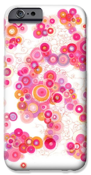 Disc iPhone Cases - Spiral Arm Dance iPhone Case by Regina Valluzzi