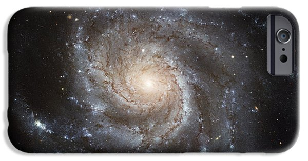 Astral iPhone Cases - Spiral Galaxy M101 iPhone Case by NASA / ESA / Space Telescope Science Institute
