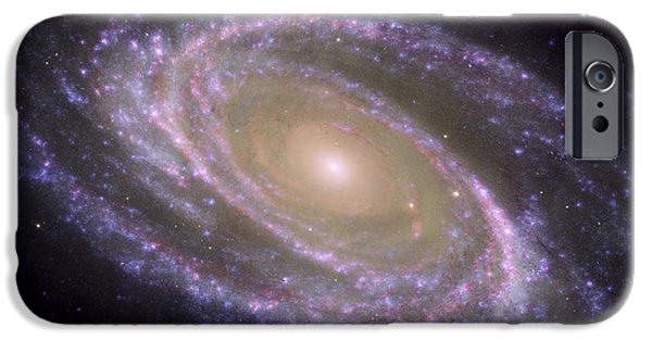 Stellar iPhone Cases - Spiral Galaxy Messier 81 iPhone Case by Stocktrek Images