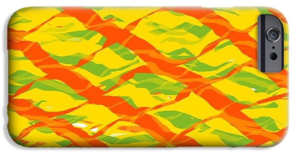 Bed Spread iPhone Cases - Spiral Painting iPhone Case by Solano Muyiwa