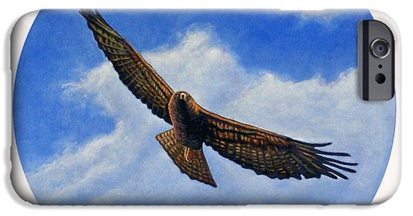 Soaring Paintings iPhone Cases - Spirit in the Wind iPhone Case by Brian  Commerford