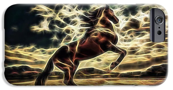 Horses iPhone Cases - Spirit iPhone Case by Marvin Blaine