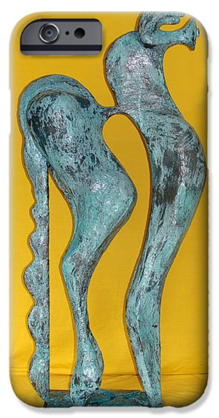 Blossom Sculptures iPhone Cases - Spirit Of a Young Horse iPhone Case by Al Goldfarb