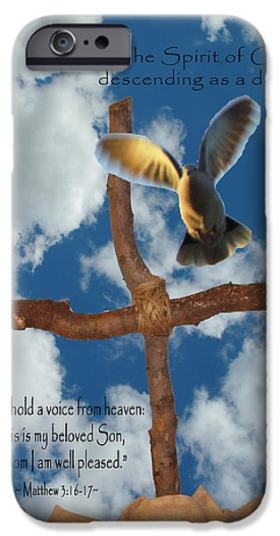 Pentecost iPhone Cases - Spirit of God iPhone Case by Robyn Stacey