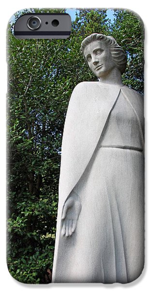 D.c. iPhone Cases - Spirit Of Nursing Statue iPhone Case by Cora Wandel