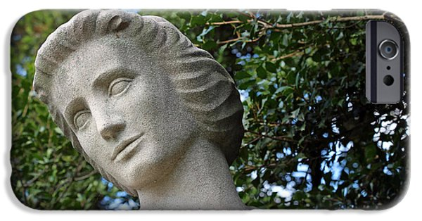 D.c. iPhone Cases - Spirit Of Nursing Statue -- Her Face iPhone Case by Cora Wandel