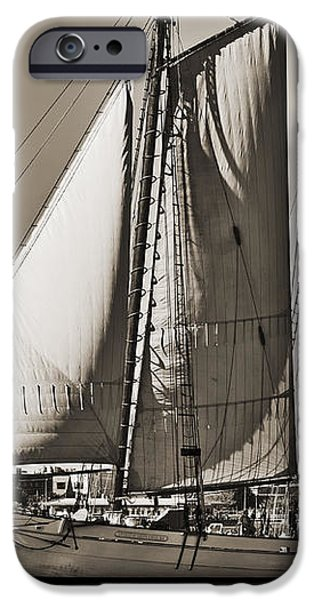 Spirit of South Carolina Schooner Sailboat Sepia Toned iPhone Case by Dustin K Ryan