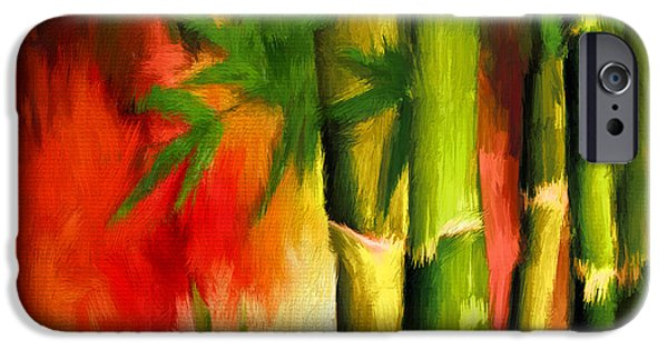 Garden iPhone Cases - Spirit Of Summer- Bamboo Artwork iPhone Case by Lourry Legarde
