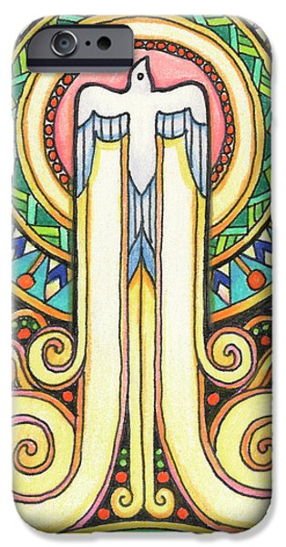 Resurrecting Drawings iPhone Cases - Spirit Rising iPhone Case by Amy S Turner