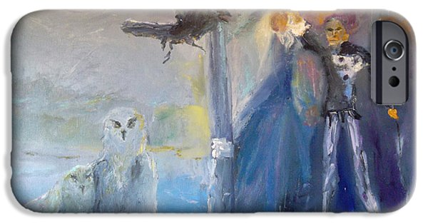 Shape iPhone Cases - Spirits in the Night iPhone Case by Susan  Esbensen