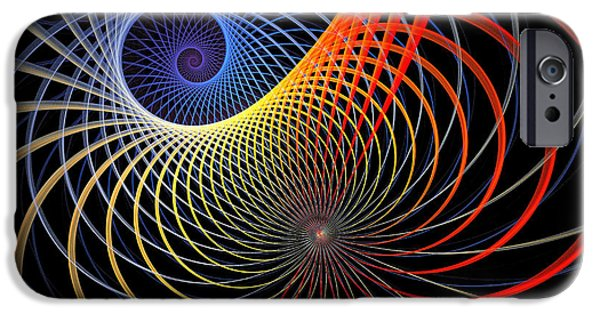 Fractals Fractal Digital Art iPhone Cases - Spirograph iPhone Case by Amanda Moore