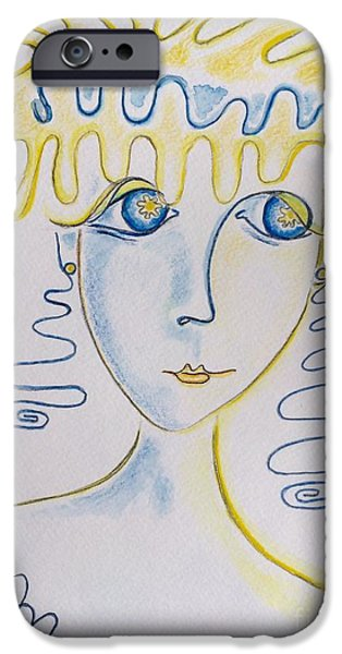 Thinking Pastels iPhone Cases - Splash iPhone Case by Barbara Chase