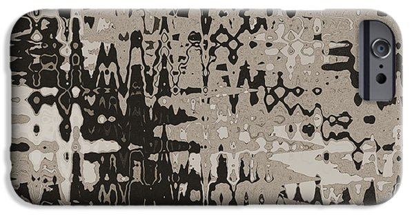 Abstract Digital Tapestries - Textiles iPhone Cases - Splash Beige iPhone Case by FabricWorks Studio