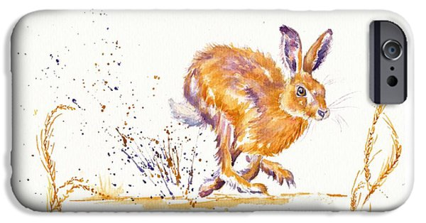 March Hare iPhone Cases - Splash iPhone Case by Debra Hall